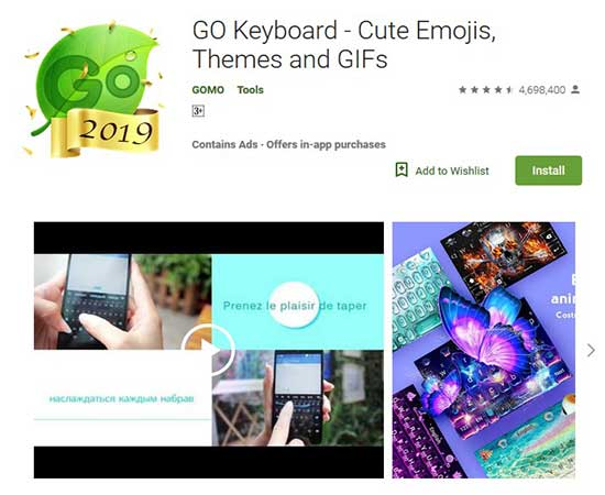 go keyboard another top keyboard app