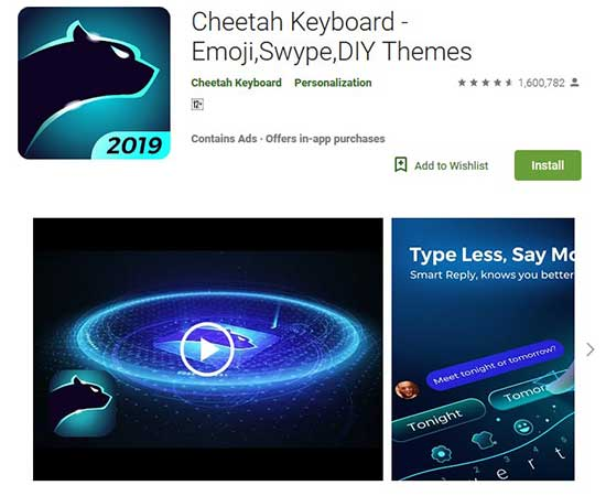 cheetah keyboard app