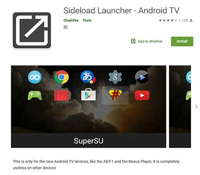 sideload launcher