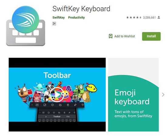 swiftkey is the best keyboard app for android