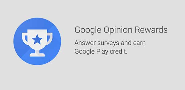 google opinion rewards for free google play credit