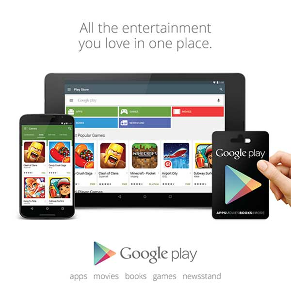 google play credit usage
