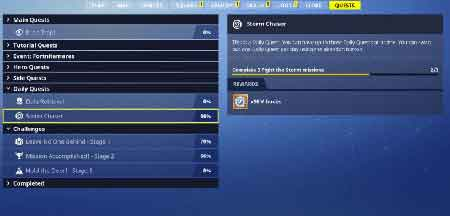 daily missions for free v bucks