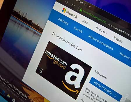 microsoft rewards for free amazon gift card